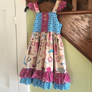Eleanor Rose Country Fair Dress, size 6-7.